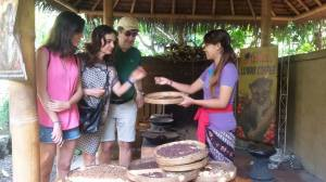 Alessia Carboni & family from Italy at kopi luwak coffee plantation - April 2016