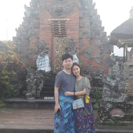Our guest Yang Lin from China at Batuan Temple - June 2017